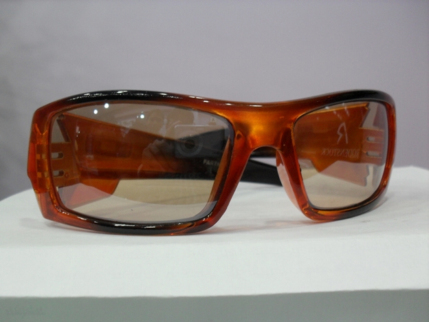 Orange and yellow lenses sunglass