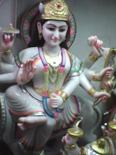 MURTI OF MAA DURGA MADE BY MARBLE