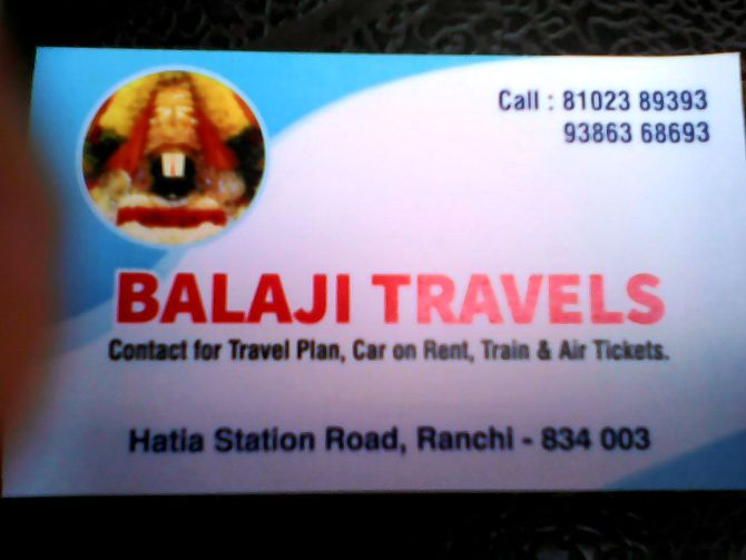 TOUR PLANNER IN RANCHI