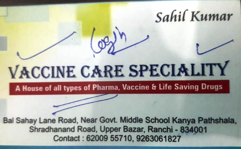 Distributors OF LIFE SAVING DRUGS IN JHARKHAND